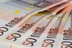 50 euroanmärkningar Royaltyfria Foton