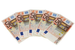 50 euroanmärkningar Royaltyfri Bild