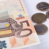 50 Eurobanknoten Stockfoto