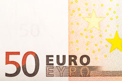 50 Euros Arkivfoto