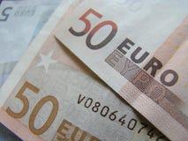 50 euros Fotografering för Bildbyråer