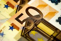 50 fatture degli euro Immagini Stock Libere da Diritti