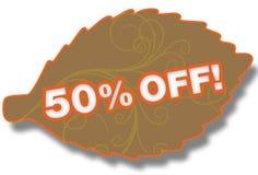 50% fora da folha Foto de Stock
