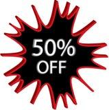 50% fora da ilustração do sinal Imagem de Stock