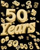 50 guld- år för årsdag Arkivbilder
