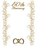 50. Hochzeits-Jahrestag Stockfotos