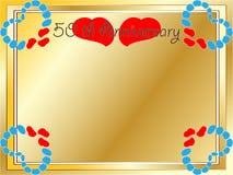 50. Hochzeitsjahrestagskarte Lizenzfreies Stockfoto