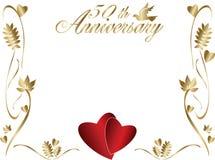 50. Hochzeitsjahrestagsrand Lizenzfreies Stockfoto