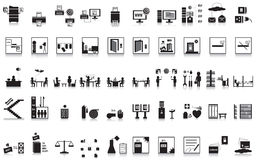 50 icon office stock images