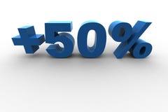 50% isolado Fotos de Stock