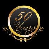 50 Jahre Gold Lizenzfreies Stockbild