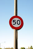 50 KPH Zone Stock Image