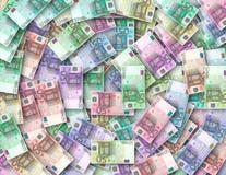 50 kulöra euroanmärkningar Royaltyfri Fotografi