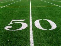 50 linha de jardas (2) Imagens de Stock