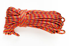 50 meters of rope. Mountaineering: 50 meters of 10 mm  kernmantel rope with clipping path Stock Image