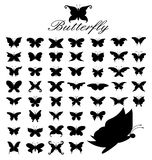 50 motyli Obraz Stock