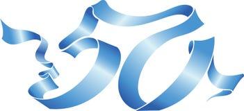 50 niebieskie wstążki Zdjęcie Stock