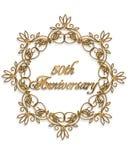 50.o elemento del diseño del aniversario Fotografía de archivo