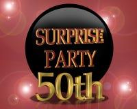 50.o Invitación del partido de sorpresa del cumpleaños stock de ilustración