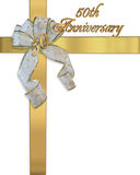 50.o Invitación del aniversario Fotografía de archivo
