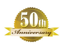 50.o Sello del aniversario Imágenes de archivo libres de regalías
