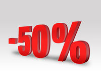 -50% Off Discount Offer Royalty Free Stock Images