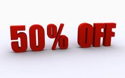 50% outre du signe Photos libres de droits
