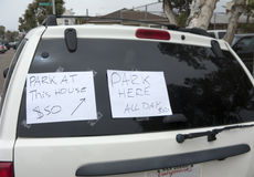 Entrepreneurial $50 Parking Spot Royalty Free Stock Photos