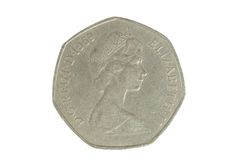 50 pence piece Royalty Free Stock Image