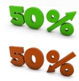 50 per cento Fotografie Stock Libere da Diritti