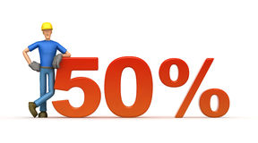 50 percent Stock Photo