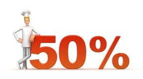50 percent Royalty Free Stock Photos