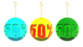 50 Percent balls on chains Royalty Free Stock Image