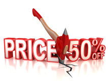 50 percent discount. 3d concept Royalty Free Illustration