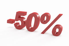 50 percent discount sign Stock Image