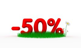 50 percent off Stock Image