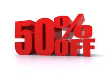 50% Percent off promotional sign Royalty Free Stock Image