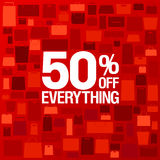 50 percent off sale background. Stock Image