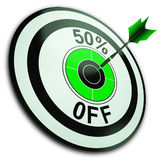 50 Percent Off Shows Reduction In Price Royalty Free Stock Photography