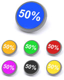 50 percent reduction royalty free stock photography