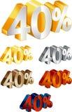 50% percentage Stock Image
