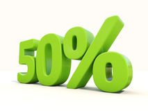 50% percentage rate icon on a white background Stock Image