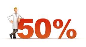 50 percenten Royalty-vrije Stock Afbeeldingen