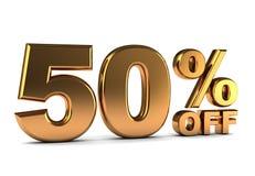 50 por cento Fotografia de Stock