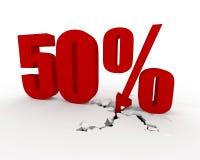 50 por cento Fotos de Stock