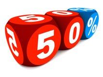 50 por cento Fotografia de Stock Royalty Free