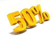 50 por cento. 3d Imagem de Stock