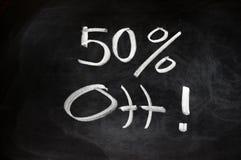 50 por cento fora Fotografia de Stock