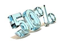 50 por cento. Gelo. 3d Imagem de Stock Royalty Free