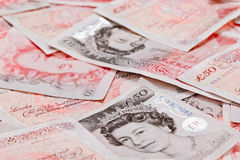 50 pound sterling bank notes Royalty Free Stock Image